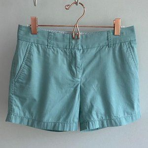 J. Crew Womens Mint Chino Broken-In Shorts